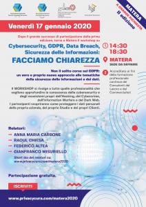 Workshop CYBERSECURITY Matera 2020