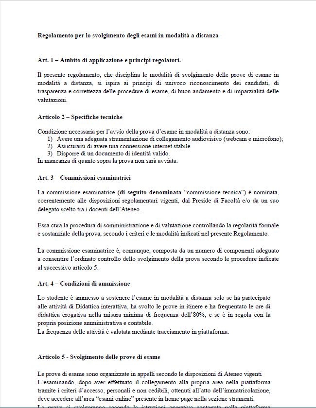 Il Regolamento Ufficiale Per Gli Esami Online Pegaso Musa Formazione